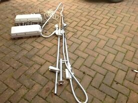 Shower units x 2 with power boosters works perfect£15 each call 07812980350 can deliver if local