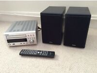 Denon RCD - M37DAB micro stereo hi if system with 2 Denon speakers. CD, DAB radio, USB, MP3