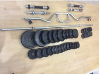 Various Cast iron Weights and bars