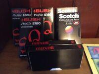 Video cassettes-- believed unused -- FREE