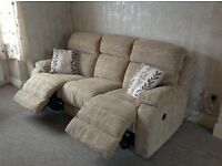 Electric reclining armchair and sofa