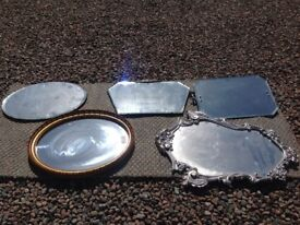 Five antique mirrors sell individually or together see prices in ad