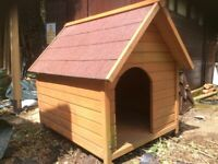 Outdoor kennel, good condition.