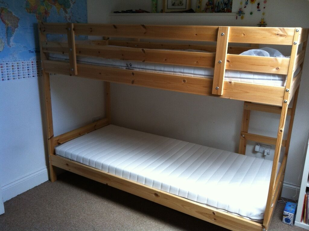 Ikea Mydal Children S Wooden Bunk Bed With Two Ikea Malfors