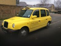1998 London taxi TX1silver Auto 2.7cc diesel Automatic been resprayed in yellow no mot drive away