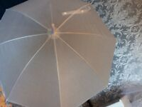 Communion Accessories White Umbrella