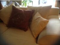 Large 3 seater sofas PLUS extra set of removable covers