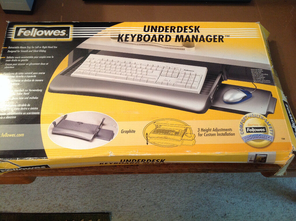 Fellowes under desk keyboard manager with mouse tray - never been used