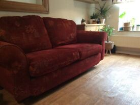 3 seater & 2 seater and footstool