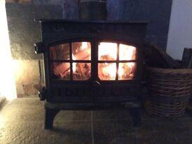 Multi fuel wood burning 8kw boiler stove, hunter herald 8