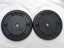 8 x 10kg Bodypower Standard Cast Iron Weights