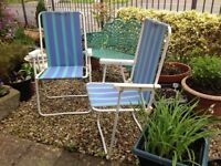 Garden chairs & lounger