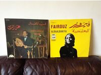 2x Very rare Arabic vinyl records