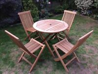 Garden Teak table and chairs