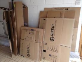 Removal flat pack cardboard boxes SOLD