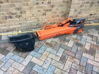 Leaf blower or Vacuum With lead / Collection Bag and plug seen working