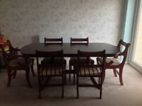 Priced to go! Dining Table and Six Chairs