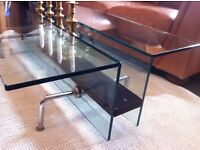 Large Contemporary Glass Coffee Table / Can Deliver