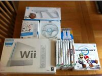 Nintendo Wii console, games and additional equipment