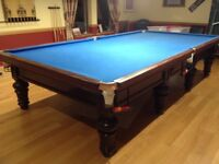 FULL SIZE BURROUGHES AND WATTS SNOOKER TABLE, VGC