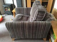 Debenhams 'fyfield' grey/steel/purple velour stripe armchair