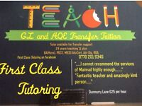 """FIRST CLASS TUTORING "" Transfer Tuition GL and AQE Dyslexia specialist and general Primary support"