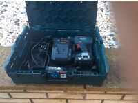 Bosch 14.4 gsb li ion drill with two batteries charger and carry case