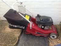 Mountfield mower for spares or repair, good Honda engine