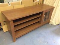 TV stand - medium oak effect wood