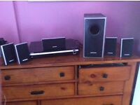 Samsung DVD Subwoofer with 6 speakers