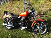 February Offer Lexmoto Michigan 125cc Custom , Orange NOW just £1,400.00 + otr FINANCE AVAILABLE