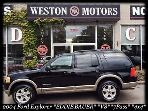 2004 Ford Explorer *Eddie Bauer *V8 *7PASS *4X4 *LEATHER *SUNROO