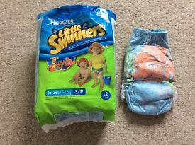 13 Huggies Little Swimmers Nappies Size 16-26lbs