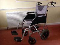 Wheelchair - Enigma drive ultra lightweight aluminium wheelchair - Hardly used
