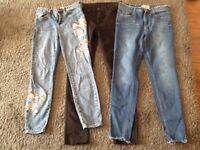 Ladies/Teens Jeans size 10 and 12, £3 each.