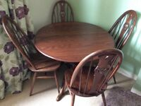 Ercol extending table and chairs