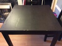 Black extendable dining room table £40 O.N.O