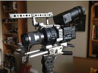 SONY FS700 camcorder in Movcam Cage with full 4K upgrade and 18-200 lens