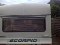 Bailey Scorpio 4/5 berth twin axle caravan