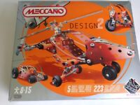 Meccano, brand new in box, unopened. For ages 8 to 15. Makes 5 different models