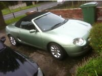 MGF open convertible sports car