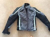 Women's ladies AQUAPORE motorcycle motorbike FRANK THOMAS jacket size S. EXCELLENT CONDITION