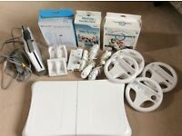 Nintendo Wii console, wii fit, games and accessories