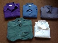 "Men's long sleeve shirts 18"", 17.5, 18.5, 3/L - Debenhams, Ben Sherman etc"