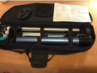 Portable astronomy telescope with tripod and carry bag