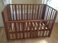 Vintage cot with new mattress
