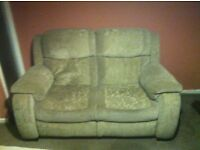 2 Seater Sofa with Armchair and Pouffett