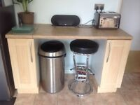 Kitchen worktops and units for sale (excluding appliances)