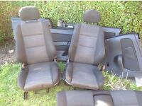 Astra mk4 convertible full interior seats and door cards
