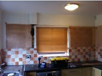 Kitchen wall cupboards + two blinds